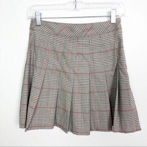 Divided H&M Pleated Plaid Mini Skirt